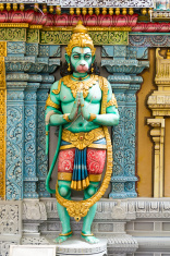 Hindu Green God Statue