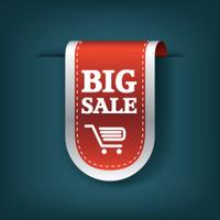 Big sale 3d vertical ribbon bookmark tag element for sales