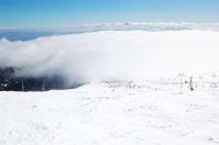 The slope in Strbske Pleso ski resort, High Tatras, Slovakia