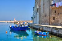 Old port. Monopoli. Puglia. Italy.
