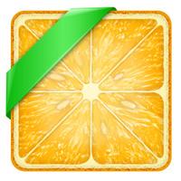 Square slice of orange Green Line.