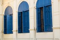 Blue large windows