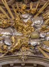 Trnava - baroque sculpture of God the Father