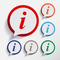 Information sign. Info round symbol.