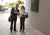 busines partner checking meeting agenda in istanbul turkey
