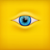 Background with human eye.