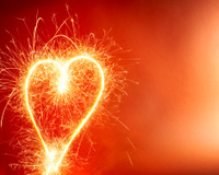Hot Heart Background