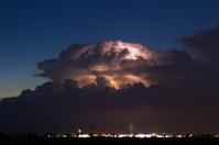 Cumulonimbus at night