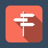 roadsign vector icon