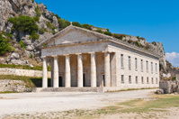 Greek temple in Corfu, Greece