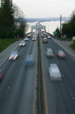 Evergreen Point Floating Bridge - Blurred Vehicles