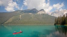 Canoeing on Emerald Lake
