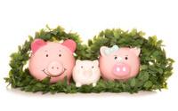 family saving money at christmas
