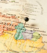 Travel Roadmap Macro Of Guyana Surinam French Guiana
