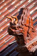 Beast temple sculpture