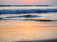 Sunset on Legian Beach in Bali