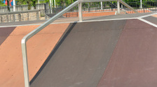 empty skatepark ramps