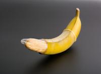 Big banana with condom