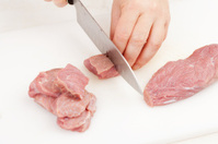 cutting beef