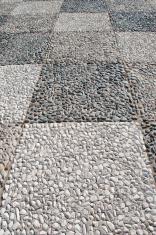 pebble stone pavement