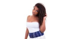 Beautiful African American teenage girl Black people