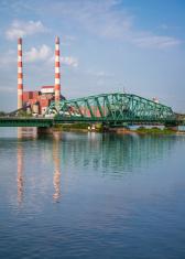 South Detroit River Bridge at Power Plant
