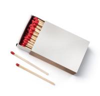 matchbox on white