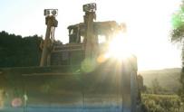 Sunrise over Bulldozer
