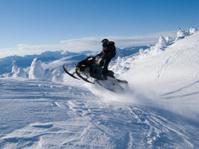 jumping snowmobile
