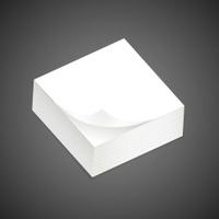 stack of blank sticky note