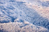 Carpathian mountains frozen hills