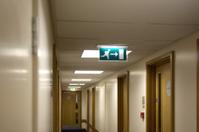 Hotel corridor fire exit