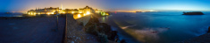 Mont Saint-Michel night panorama (France)