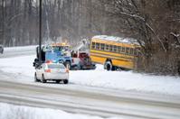 Winter School bus accident.