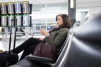 Waiting at the Airport Texting
