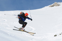 Fre style skiing
