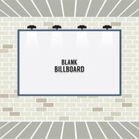Blank Advertising Billboard On Brick Wall Vector Illustration