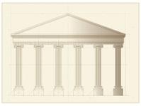 Vector Greek Building Front