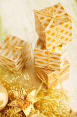 Golden Xmas Ornaments