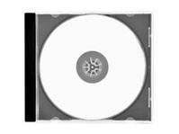 Blank CD/DVD in clear case