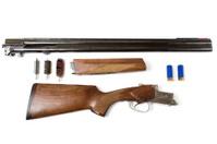 Disassembled shotgun