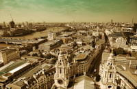 London rooftop view
