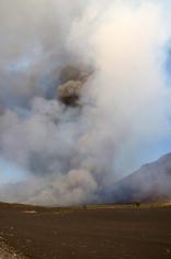 Volcano in Fogo, Cabo Verde erupting