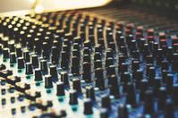 Sound recording studio - sound mixer close up