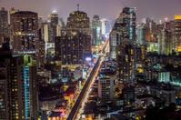 Bangkok sukhumvit road twilight