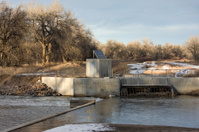 Diversion dam and irrigation ditch
