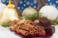 chocolates, cinnamon and walnuts