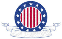 US Badge and Banner - Crumpled