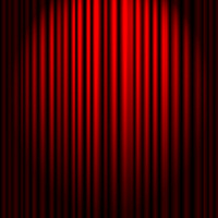 Spotlight and curtain