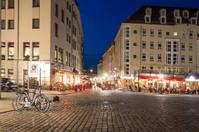 Dresden city at night - Neumarkt